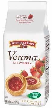 Pepperidge Farm, Verona Strawberry Cookies, 6.75oz Bag (Pack of 4)
