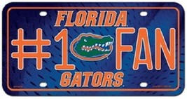 Florida Gators #1 Fan License Plate SEC NCAA Tag Auto Truck Metal CDG Swamp UF  - $9.65