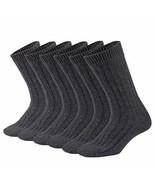 Mens Wool Socks Winter Warm Crew Socks Soft Knit Thick Thermal Cozy Casu... - $47.03