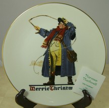 JOLLY COACHMAN Norman Rockwell Collectible Christmas Plate 1982 in Box - $12.35