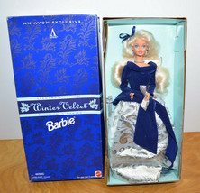 Vintage Barbie Winter Velvet Doll 1995 Mattel With Box Avon Exclusive - $13.54
