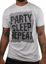 Bench Mens Party Sleep Repeat Light Gray Crewneck Graphic Cotton T-Shirt