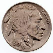 1931-S 5C Buffalo Nickel AU Condition, Nice Eye Appeal, All White Color,... - $49.50