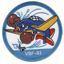 US Navy VBF-93 Aviation Fleet Bombing Squadron Ninety-Three Patch - $11.87