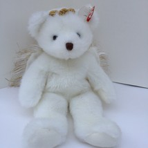 Ty Classic Divine Angel Bear Plush 2001 Gold Sparkle Wings Stuffed Toy L... - $10.00