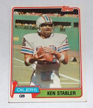 1981 topps #405 ken stabler the snake houston oilers nfl oakland raider ... - $9.25