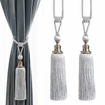 4 X Weiß Strass Juwelen Aufgereiht Voile Stab-Tasche-Vorhang /& Tieback
