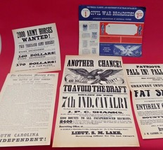 VINTAGE 1960's CIVIL WAR BROADSIDES~COLLECTION #1~(4) POSTERS~RARE~FREE ... - $20.78