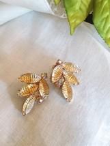 Vintage Juliana Style Molded Glass Clip Back Earrings - $22.00