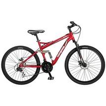 Mongoose Stasis Comp 26-Inch Full Suspension Mountain Bicycle, Matte Red... - €338,47 EUR