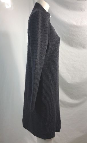 Calvin Klein Gray Zipped Long Sweater Jacket, Womens Size L
