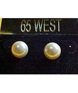 Pearl shape- Set of 2 Pearl Shaped Pierced Earrings - $5.75