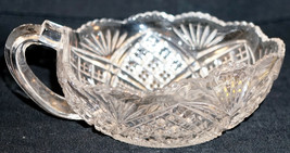Nice Pressed Glass Single Handled Nappy Bowl or Nut Dish - $25.99