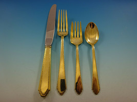 William and Mary Gold by Lunt Sterling Silver Flatware Service Set 12 Ve... - $4,195.00