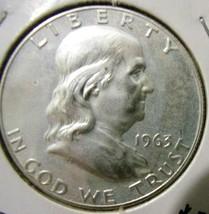 1963 Franklin Half Dollar - Proof - Bluish hue - $34.65