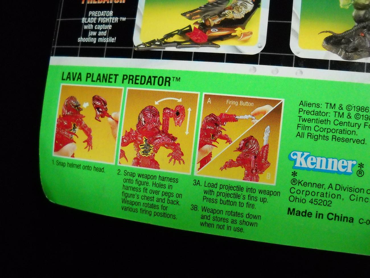 Kenner Predator 1994 Lava Planet Predator Sealed Still Factory Sealed on Card