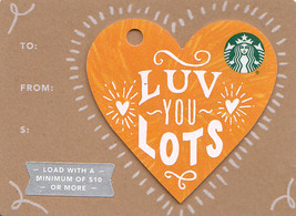 Starbucks 2017 Luv You Lots Yellow Mini Heart Gift Card New No Value - $2.99