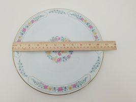 "Liling Fine China Dinner Plates Set of 4 Yung Shen White Roses Keepsake 10 5/8"" image 11"