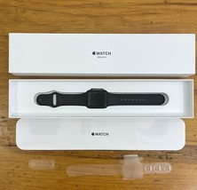 Apple Watch Series 3 GPS 38mm Space Gray Aluminum Case Black Band - $148.49