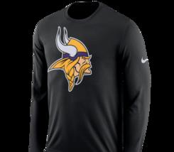 Minnesota Vikings Mens Nike Logo Dri-Fit Cotton L/S T-Shirt - XXL - NWT - $27.99