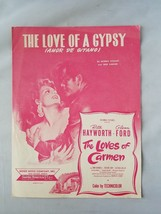 Love Of A Gypsy Amor De Gitano The Loves of Carmen Vintage Sheet Music S... - $212.97