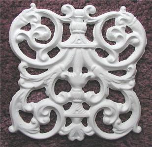 Plaster Mold, Victorian Grill Tile Plaster Mold, Concrete Mold, Clay Mold