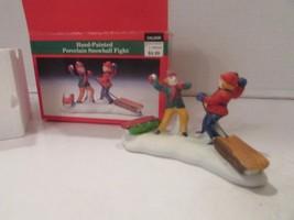 "Lemax 23050 Snowball Fight 1992 Figurine Boxed 2.25 X 4"" L105 - $7.79"
