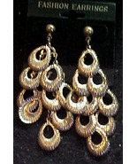 Gold Colored pierced ear rings - $2.95