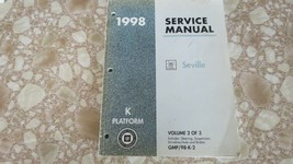 1998 Cadillac Seville Service Shop Repair Manual Vol 2 of 3 Used OEM - $9.94