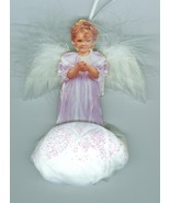 Gracious Blessing  Bradford Edition Porcelain Angel  1999 Christmas  - $13.27