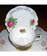 Lefton China vintage cup and saucer  Floral - $13.00