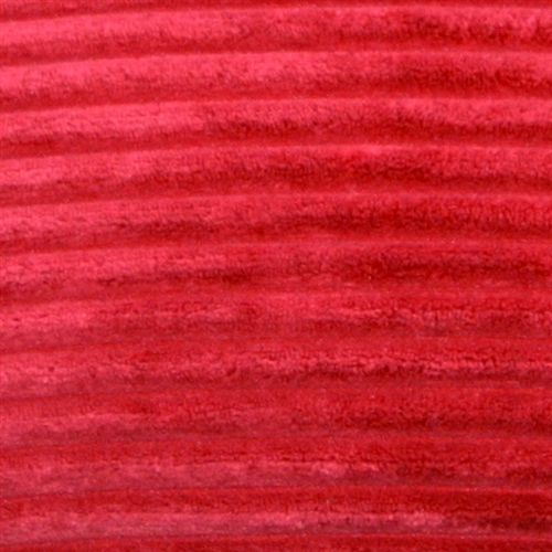 Pillow Decor - Wide Wale Corduroy 12x20 Red Throw Pillow