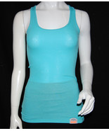 NWT SUPERDRY TOKYO VINTAGE women teal basic TANK/CAMI TOP sleeveless blo... - $13.99
