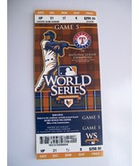 2010 World Series Game 5 Ticket Tim Linecum Giants Become Champions $250 - $29.95