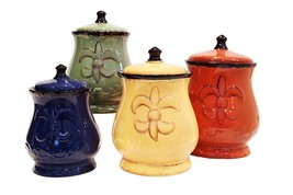 Tuscan Canisters French Country Kitchen Decor Tuscany Canister Sets For ... - $94.77