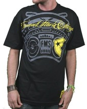 Famous Stars & Straps Men's Black/Yellow Not Loud Enough T-Shirt Small NWT