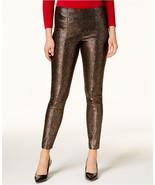 $74.5 Alfani Houndstooth-Print Skinny Pants Deep Black Delicate 10 - $46.55