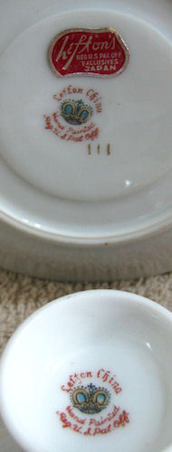 Vintage Lefton Floral Footed Cup and Saucer