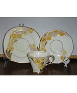 Vintage Royal Stafford Trio - Cup, Saucer, Dessert Plate - Art Deco Patt... - $15.00