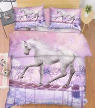 3D Pretty Horse Bed Pillowcases Quilt Duvet Cover Set Single Queen King Size AU - $90.04+