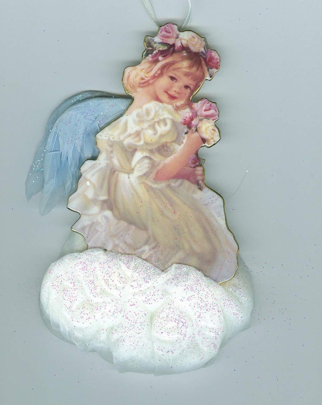 Angelic Moments  Bradford Edition Angel  1999 Christmas Ornament