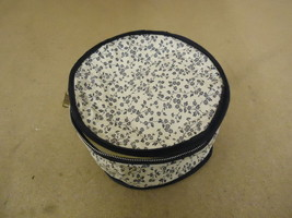 Cover Ups Dish Case 8in Diameter x 5in H White/Blue Floral Plastic - $8.86