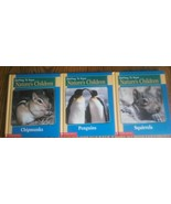 Lot 3 Getting To Know Natures Children Books 2 Books In 1 VG Frog Elepha... - $9.77