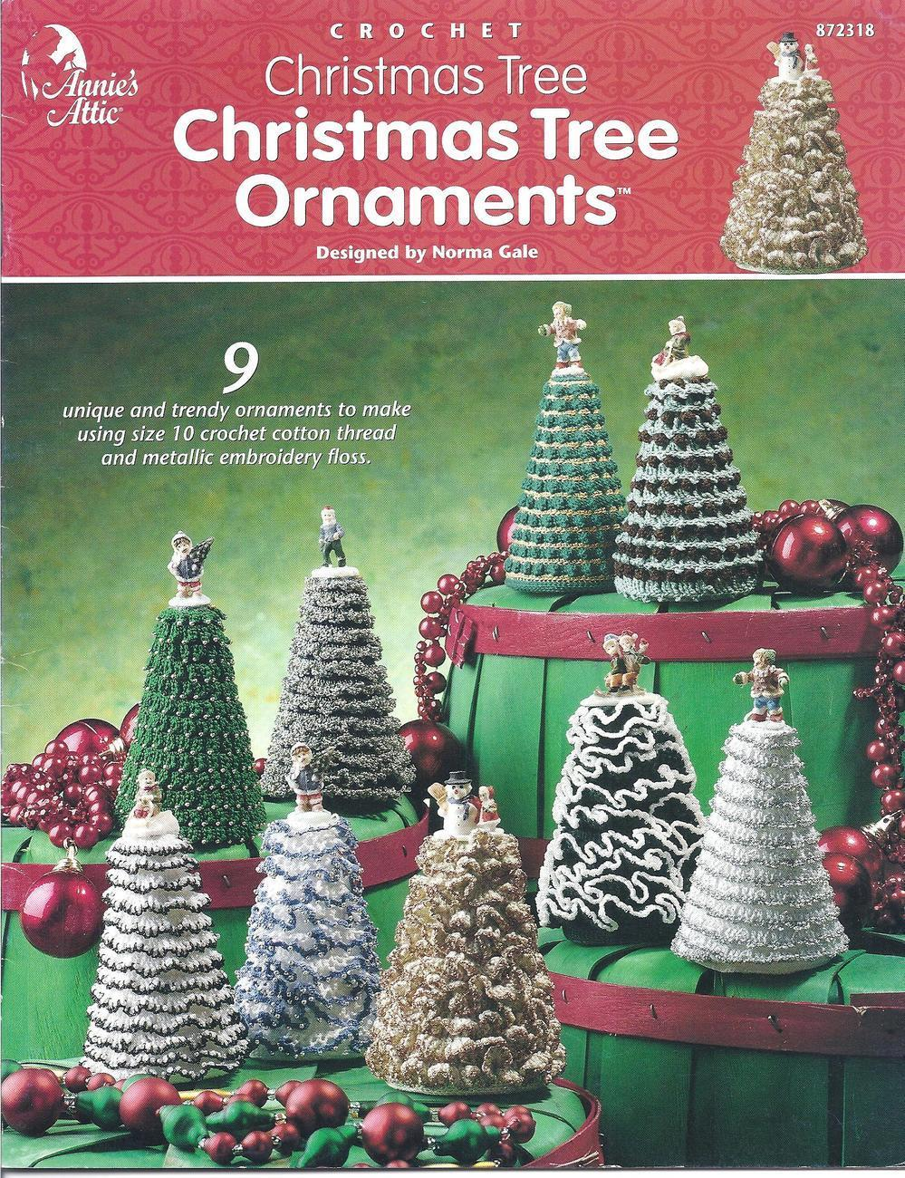Christmas Tree Ornaments Crochet Patterns~Annie's~OOP~New