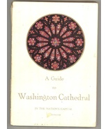 Guide Washington Cathedral guide book vintage 1953 art staine glass windows - $6.50