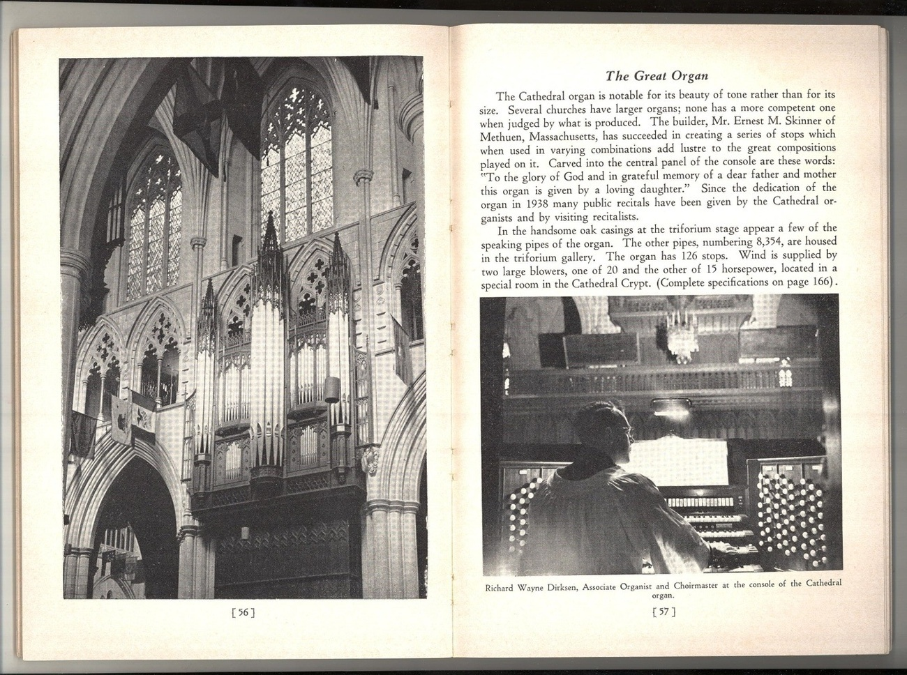 Guide Washington Cathedral guide book vintage 1953 art staine glass windows