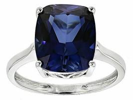 925 Silber Natürlich Zertifiziert 10 Karat Blau Saphir Handmade Solitair... - $39.50