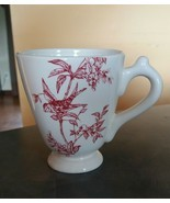RED BIRD TOILE Elisabeth Trostill for Andrea by Sadek 12 oz Mug Cup - $13.95