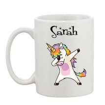 Personalised Dab Dabbing Unicorn Funny Joke Mug 10oz - $8.61