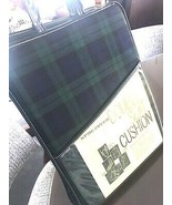 SPORTSTER GREEN BLYE PLAID NEW VTG DOUBLE PADDED STADIUM SEATS - $96.97
